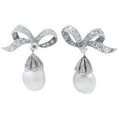 Pearls and Diamonds Earrings