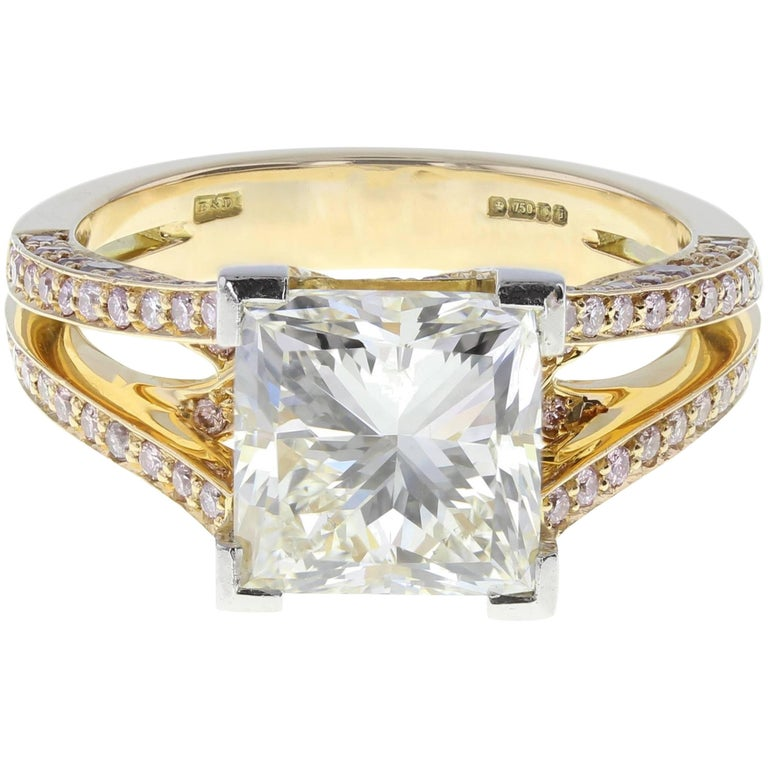 Boodles 4.01 Carat Princess Cut Diamond Solitaire Engagement Ring