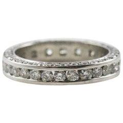 Ziva Jewels Platinum and Diamond Three-Sided Eternity Band