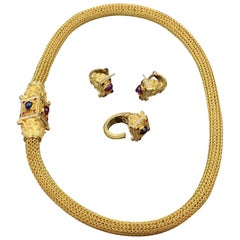 Gold, Diamonds, Rubies and Sapphires Set by Maramenos