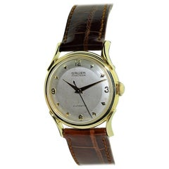 Gruen Solid Gold Art Deco Original Dial and Hands Automatic Watch