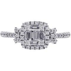 Diamond Halo Illusion Ring