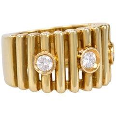1970s Gianfranco Frattini, Diamond and Gold Ring