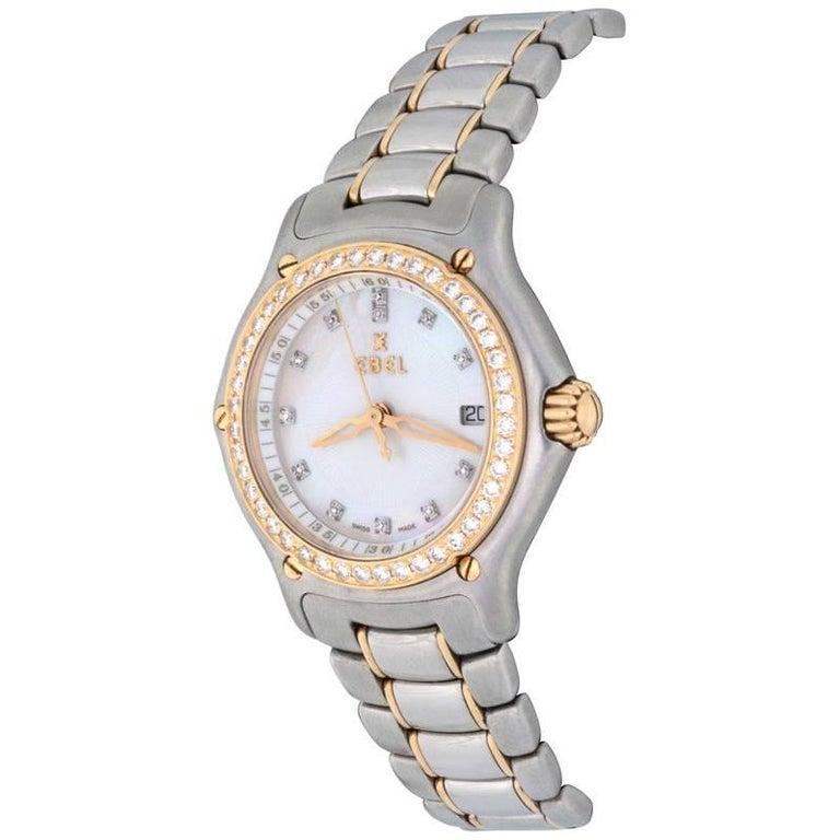 Ebel Ladies Stainless Steel 1911 Diamond Mother-of-Pearl Quartz Wristwatch