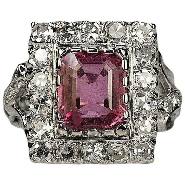 AGL Certified 2.56 Carat Pink Sapphire Ring