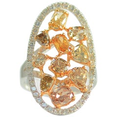 Frederic Sage 3.50 Carat Fancy Diamond One of Kind Ring