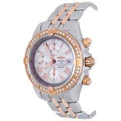 Breitling Rose Gold Stainless Steel Chronomat Evolution Automatic Wristwatch