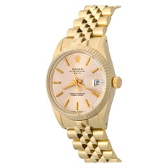Rolex Yellow Gold Oyster Perpetual Date Automatic Wristwatch Ref 15037