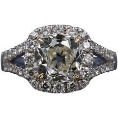 LFG Certified 2.61 Carat Diamond Engagement Ring