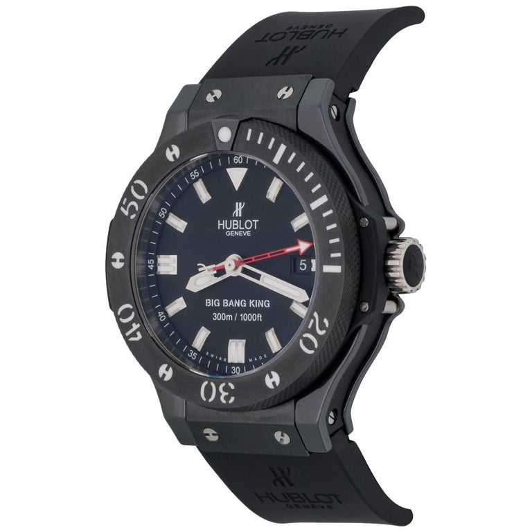 Hublot Stainless Steel Big Bang King Black Magic Automatic Wristwatch For  Sale 9f1d9bb3b8