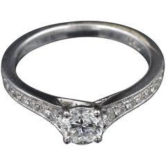 GIA Certified 0.50 Carat Fvs2 Diamond Ring