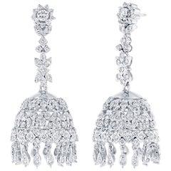 4.36 Carat Diamond Chandelier Earrings