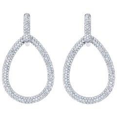 7.30 Carat Diamond Dangling Lever-Back Earrings