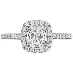 0.71 Carat Cushion Diamond Engagement Ring