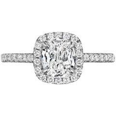 0.71 Carat Cushion Diamond Engagement Ring