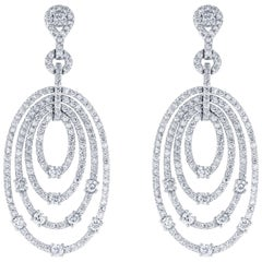 4.27 Carat Diamond Drop Earrings