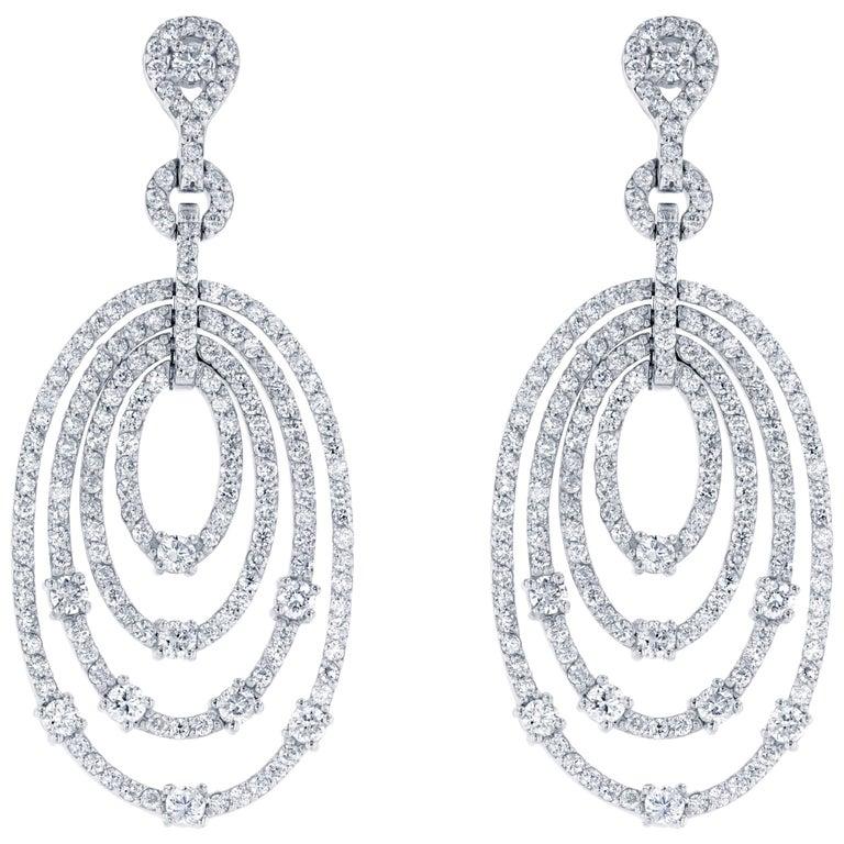 4.27 Carat Diamond Drop Earrings