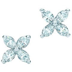 Tiffany & Co. Victoria Platinum with Marquise Diamond Earrings