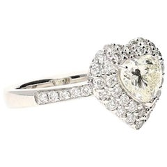GIA Certified 1.15 Carat Heart-Shape Diamond Engagement Ring
