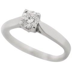 Van Cleef & Arpels Spring Solitaire Ring 950 Platinum Diamond 0.31ct D-VVS1-EX