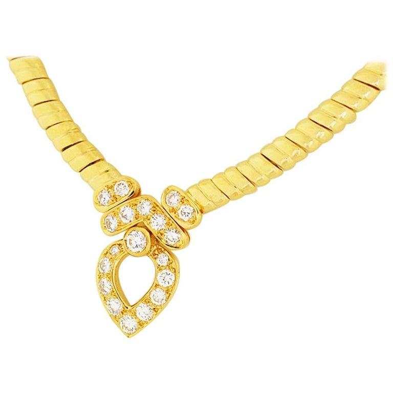 Van Cleef & Arpels 18 Karat Yellow Gold Diamond Necklace