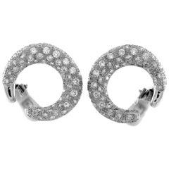18 Karat White Gold Earrings and Diamonds