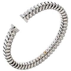 Classic Tubogas Bracelet in 18 Karat White Gold