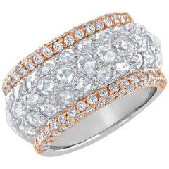 Rose Cut Diamond and Pink Diamond Ring