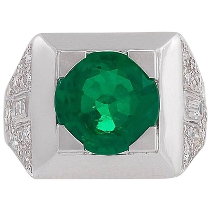 Cartier Colombian Emerald and Diamond Ring