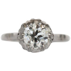 GIA Certified 0.96 Carat Diamond Platinum Engagement Ring