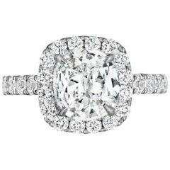 1 Carat Cushion Diamond Engagement Ring