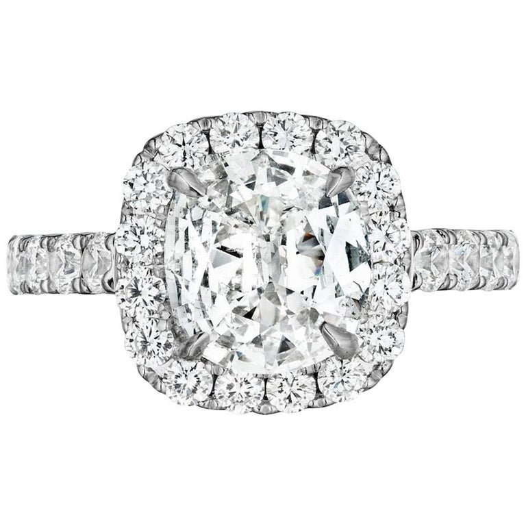 1 Carat Cushion Diamond Engagement Ring