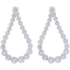 7.66 Carat Diamond Drop Earrings