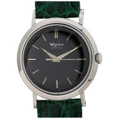 Wyler Stainless Steel Manual Wind Dress Wristwatch, circa 1960