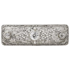 1930s Diamond Platinum Brooch