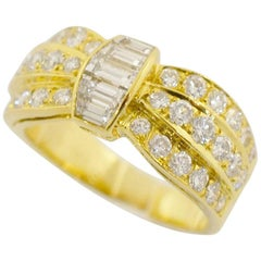 Van Cleef & Arpels  Diamonds Ring 18 Karat Yellow Gold EU 49