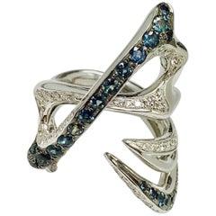 Latreia by Mana Matsuzaki Alexandrite Diamond Unisex Ring in 18 Karat WG