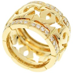 Cartier Entrelaces Diamond Edge Ring 18 karat Yellow Gold
