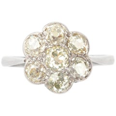 Flowerhead Old European Cut Diamond Ring