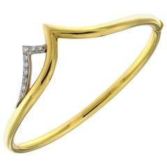 Yellow 18 Karat Gold Bracelet and White Diamonds