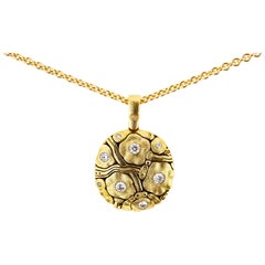 Alex Sepkus Gold and Diamond Summer Flowers Pendant