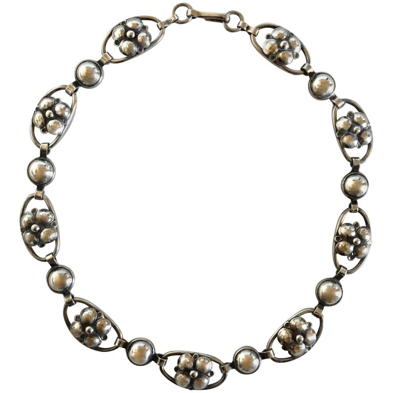 U.S.A. Georg Jensen Inc. Sterling Silver Necklace No. 309 B