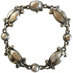 Georg Jensen Bracelet No. 11 in 830 Silver with French Import Marks