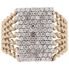 Diamond Pave Woven Look Ring