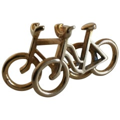 Georg Jensen Brass Pendent of Bicycles #5214