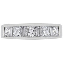 Princess Cut and Baguette Shape Diamond Wedding Band