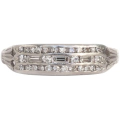 .35 Carat, Total Weight Diamond Platinum Wedding Band