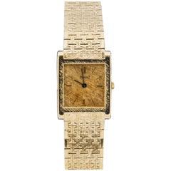 1960s Piaget Women's 18 Karat Yellow Gold Tank Watch