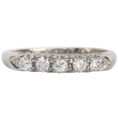 .25 Carat, Total Weight Diamond Platinum Wedding Band
