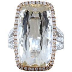 Imperial Topaz Diamond Gold Ring